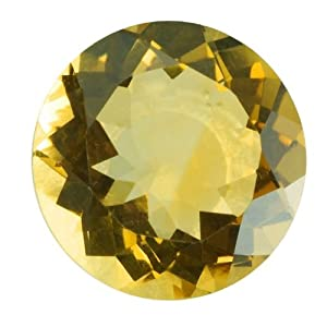 Round 6mm Yellow Citrine Faceted Stone, AA-Grade