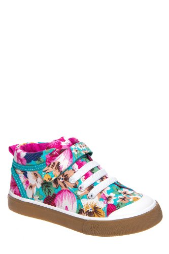 See Kai Run Kid's Mykah Hook & Loop High Top Floral Sneaker