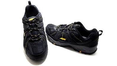 Buy Avia Mens 6025 Running Shoe Black Yellow Dark Gray Size 8M NEW! by Avia