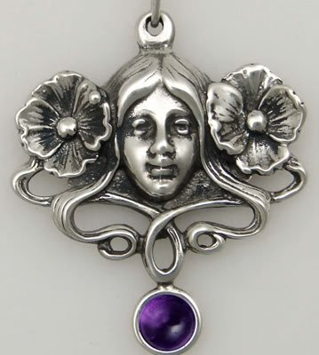 Goddess of the Garden in Sterling Silver, Accented with Genuine Amethyst ...Made in America