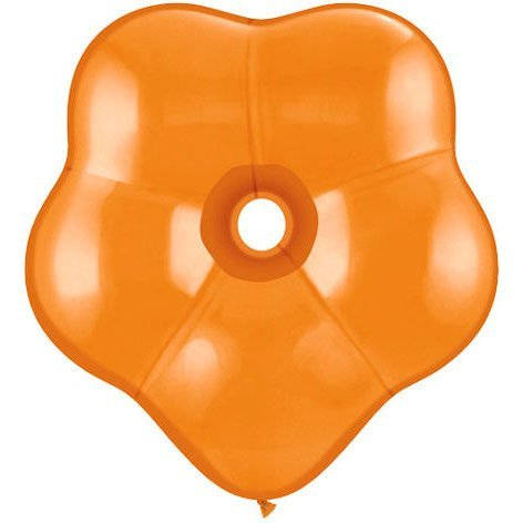 "16"" Geo Blossom Mandarin Orange Balloons (10 ct) Latex (10 per package) - 1"