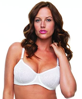 Body Naturals Lace Unlined Underwire Bra at Amazon Women's Clothing