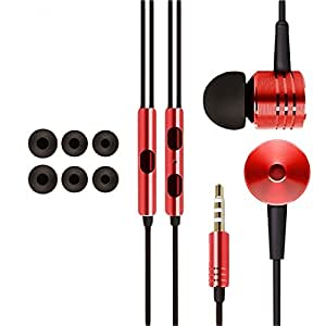 D'clair Premium OEM Mi Piston Design Earphones for Lava Icon - Red