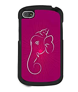 printtech Lord Ganesha Glow Aura Back Case Cover for BlackBerry Q10