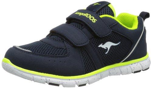 KangaROOS Nara, Sneaker unisex bambino, Blau (dk navy/lime 481), 36