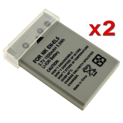 eForcity 2X EN-EL5 ENEL5 Battery for Nikon Coolpix P3 P4 P80 P90 P6000 P100 P500 P5100
