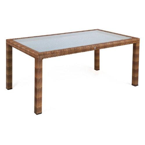 MBM 68.00.0342 Tisch Bellini 90 x 160 cm, tobacco, Glasplatte