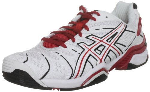 Asics Men's Gel Resolution 4 Oc White/Formula One/Black Tennis Shoe E211N 0128 9 UK