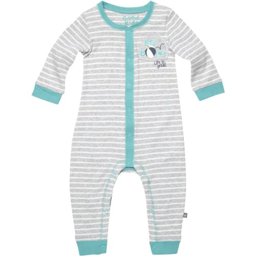 Life Is Good Baby Romper Long Sleeve Let'S Bounce Onesie, Light Heather Gray, 0-3 Months front-365330
