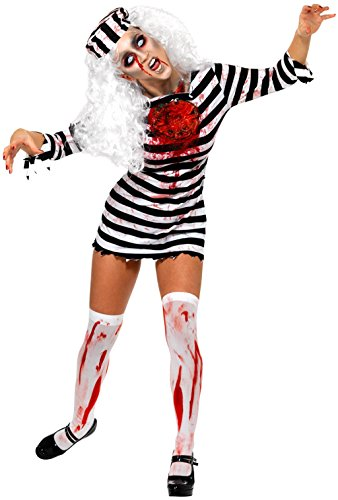 [NonEcho Creepy Zombie Prisoner Costume Adult Halloween Costume 2 PC] (Xl Ghostly Gal Adult Costumes)