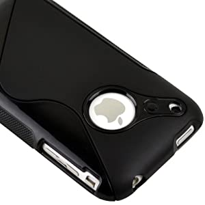 Generic Black Rubber TPU GEL Hard Case Skin Cover for Apple Iphone 3g 3gs 8gb 16gb