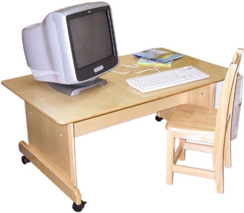 Buy Low Price Comfortable Wood Designs 41500 – Adjustable Height Computer Table (B0026GND9G)