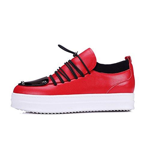 Piattaforma altezza crescente scarpe per autunno/inverno/ Europa e le scarpe casuale/ scarpa elastico lampeggia/Scarpe donne di grandi dimensioni-B Longitud del pie=22.3CM(8.8Inch)