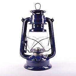 New 24cm Retro Oil Lantern Outdoor Camping Kerosene Paraffin Hurricane Lamp Blue my-3887