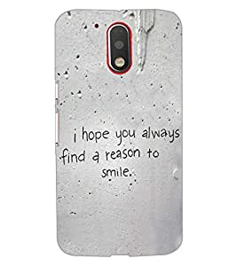 PrintDhaba QUOTE D-6483 Back Case Cover for MOTOROLA MOTO G4 (Multi-Coloured)