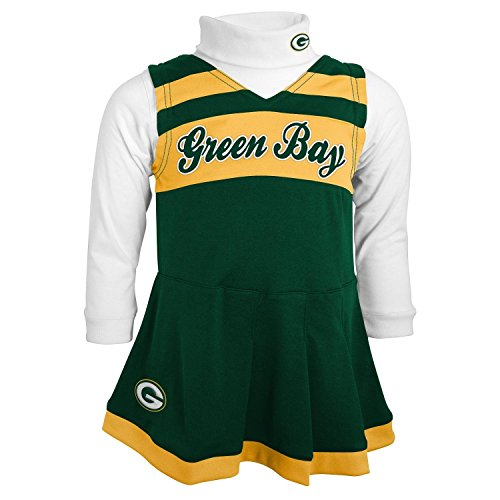 Green Bay Packers Toddler (2T-4T) Turtleneck & Cheerleader Dress Set (2T)
