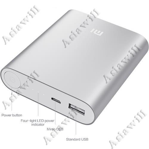 Asiawill® 10400Mah Usb Mobile Power Source Bank Power Bank W/ 4-Led Indicators Compatible With Apple, Samsung, Htc, Nokia, Blackberry Etc - Silver