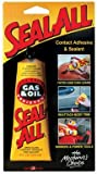 Seal-All Gas & Oil Resistant Adhesive Wood, Metal, Aluminum Plastic And Rubber Clear Carded, Tube 2