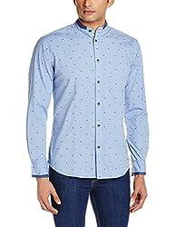 Park Avenue Men's Casual Shirt (8907117075698_PCSL00754-B3_44_Medium Blue)