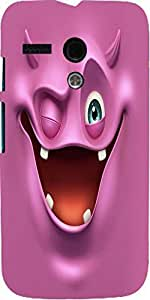 Snoogg Purple Devil Ghost 2685 Case Cover For Motorola G
