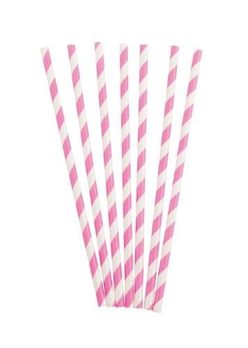 Party Partners Design Retro Paper Straws, Magenta, 25 Count