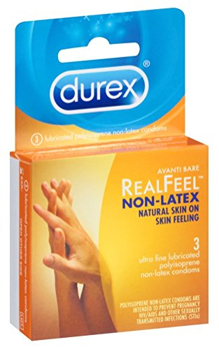 Durex Real Feel Non-Latex 3 Count (6 Packs)