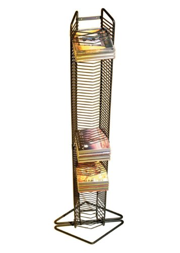 Atlantic Onyx 1248 80 CD Tower (Matte Black Steel) (Atlantic Can Rack compare prices)