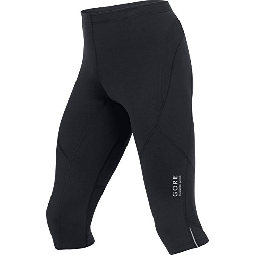 GORE RUNNING WEAR, Tights Corsa Uomo, Funzionali, Gamba 3/4, GORE Selected Fabrics, ESSENTIAL 3/4, Taglia S, Nero, TESSNT990003