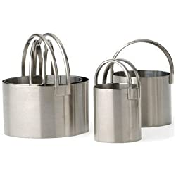 RSVP Endurance 4 Piece Stainless Steel Biscuit Cutter Set