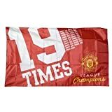 "Manchester United FC - ""19 x "" Licensed Team Flag 5 ft long x 3ft wide"