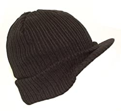 Knitted Thinsulate Peaked Beanie Hat, Stretchy.