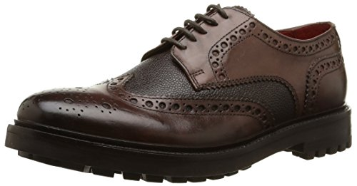 Base London - Peel, Stringate da uomo, Marrone (Marron (Waxy/Grain Brown)), 44