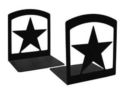 Iron Star Book Ends - Black Metal