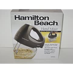 Hamilton Beach Hand Mixer with Snap-on Case, Black by Hamilton Beach