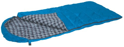 Stansport Base Camp Hooded Sleeping Bag (Blue Plaid, 25-Degree)