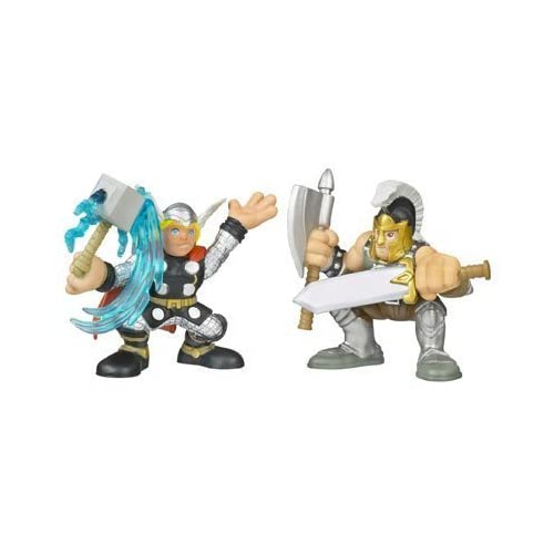 Marvel Super Hero Squad Ares and Thor 2 Figurines Set günstig