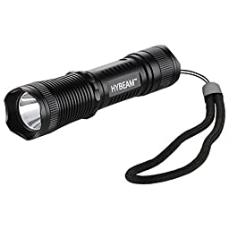 Hybeam Mini Tactical Flashlight with 3 Modes Ultra Bright 300 Lumens Cree Bulb and Waterproof Body