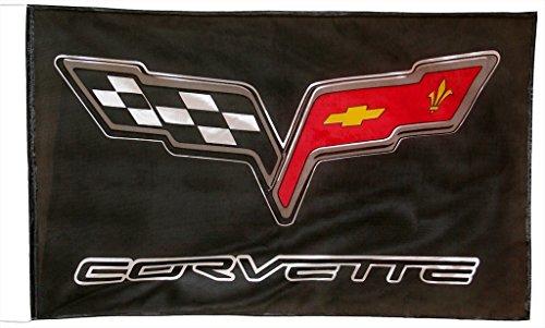 chevrolet-corvette-c6-negre-drapeau-150-x-90-cm