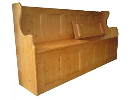 Wye Pine 6ft Monk's Bench - Finish: Wax - Stain: Waterbased