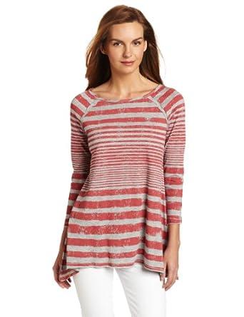 (史低)Calvin Klein Performance Varigated 修身做旧条纹长袖t恤 $23.41