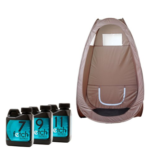 Fetch Dha Indoor Sunless Tanning Sample Pack Brown Portable Spray Tan Tent front-978070