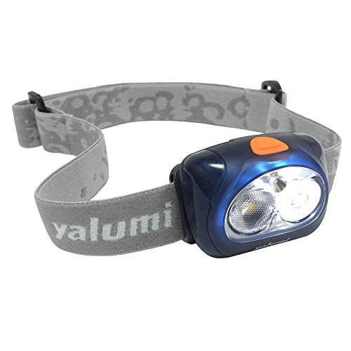 Yalumi Spark Pro 120-Lumen Floodlight/90-Lumen Spotlight White/Red LED Headlamp, Gray Strap