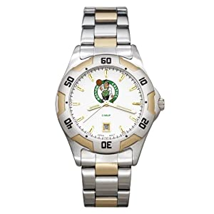 NBA Boston Celtics Mens All-Pro Two-Tone Watch by Logo Art