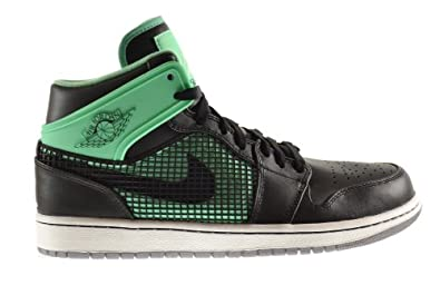 Buy Air Jordan 1 Retro '89 Mens Shoes Black White-Green Glow-Cement Grey 599873-033 by Jordan