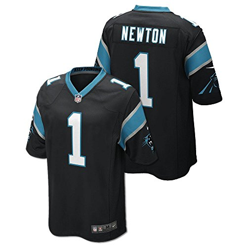 Cam Newton Carolina Panthers NFL Adult Black Game Jersey