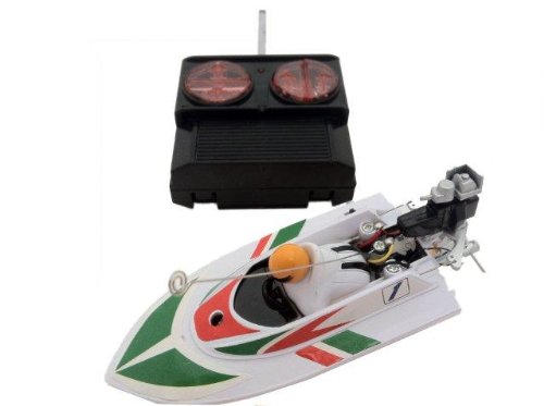 41wQYw5RpGL Digital Additions® Micro Remote Control RC Speedboat 1:64 Scale White 40HZ