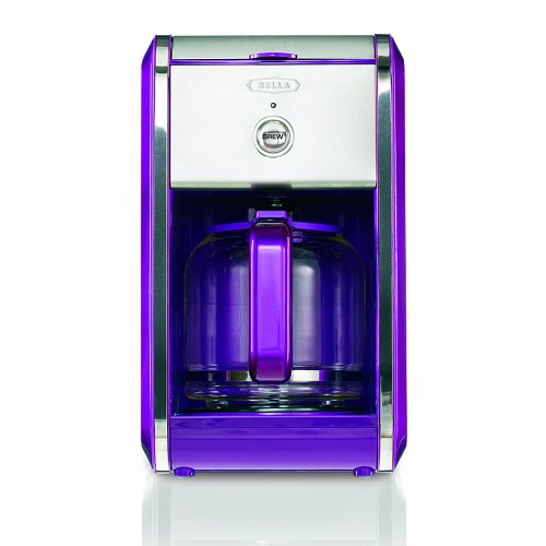 BELLA 13740 Dots Collection 12-Cup Coffee Maker, Purple New