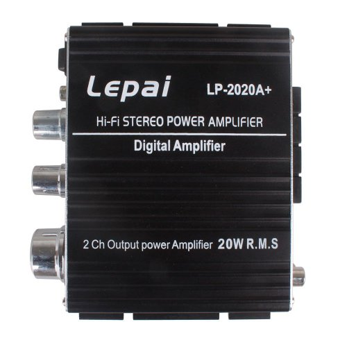 Onedayshop® 2013 New Version!! Upgraded LP-2020A+ Lepai Tripath Class-T Hi-Fi Audio Mini Amplifier with US Power Supply Black, US Shipping!!!