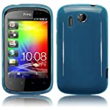 Blue Design Tpu Gel Case Cover For HTC ExplorerHTC Pico PART OF THE QUBITS ACCESSORIES RANGEby TERRAPIN