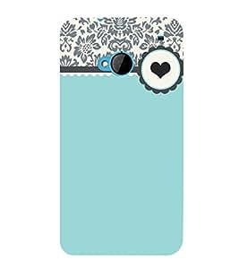 Floral Love Green 3D Hard Polycarbonate Designer Back Case Cover for HTC One M7 :: HTC M7